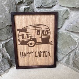 NEW Happy Camper Sign Campung RV